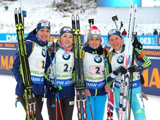 Хохфильцен-2017. Женская сборная Украины берет серебро в эстафете!