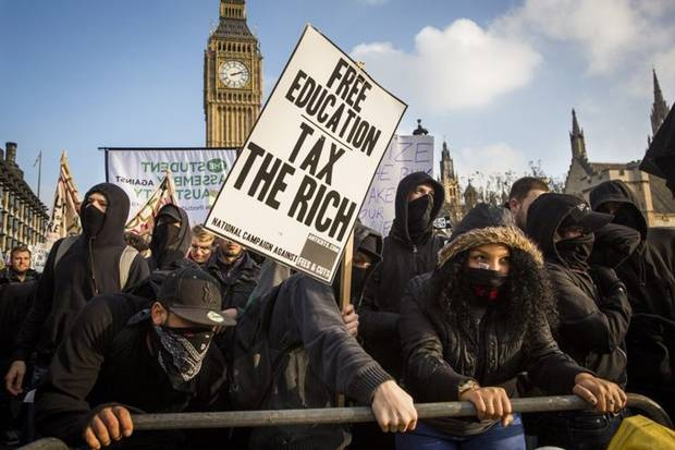 В Лондоне студенческий бунт