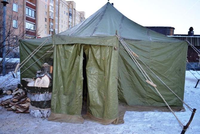 Жители Луганска вынуждены греться в палатках