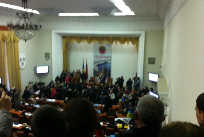 В Запорожье начался митинг против мэра