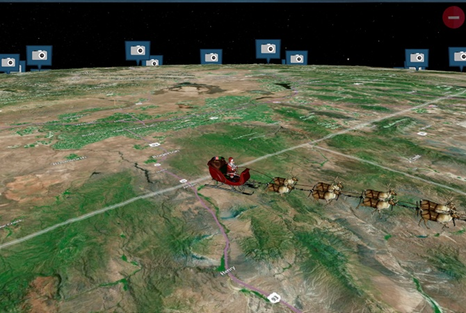 Санта-Клаус ночью посетил Донецк
