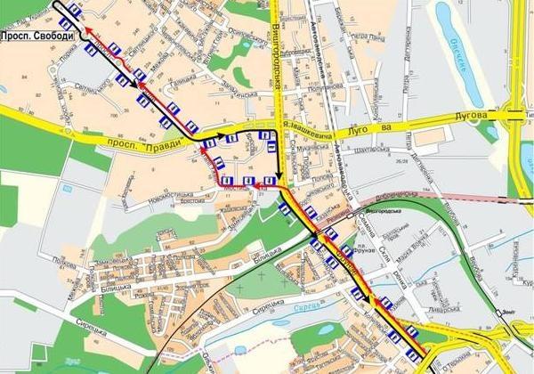 троллейбусных маршрута