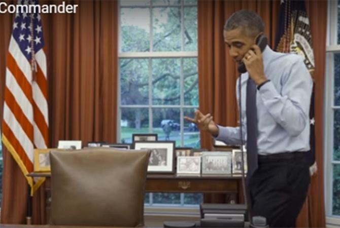 Барак Обама снял комедийное видео оготовности пополнить «диванные войска»