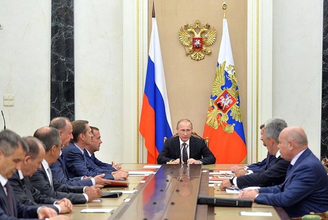 СовбезРФ неопределился сответом Украине после событий вКрыму