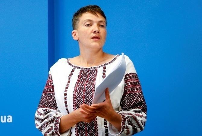 Голодающая Савченко отправилась названый ужин вСША