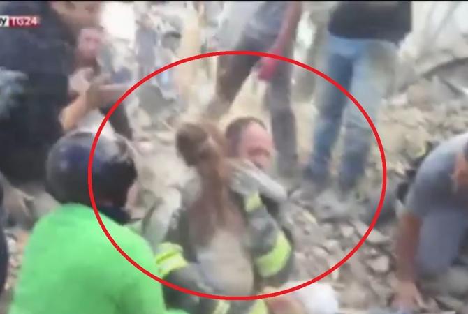 ВИталии спасли находившуюся под завалами 17 часов девочку