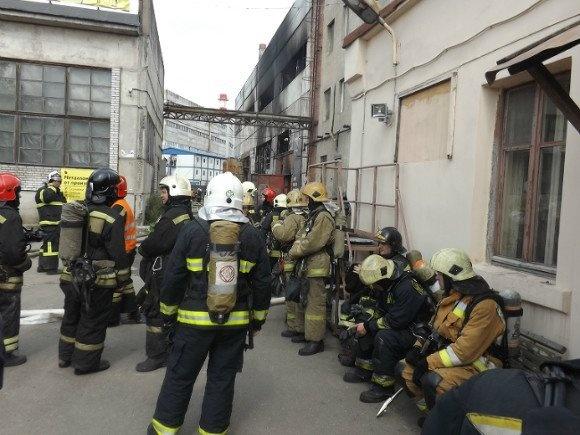 При пожаре втипографии вМоскве погибли более 20 человек