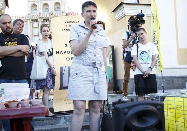 Савченко: янеищу противников в РФ