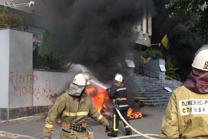 МВД Украины: Пожар вофисе «Интер» могли организовать сами работники канала