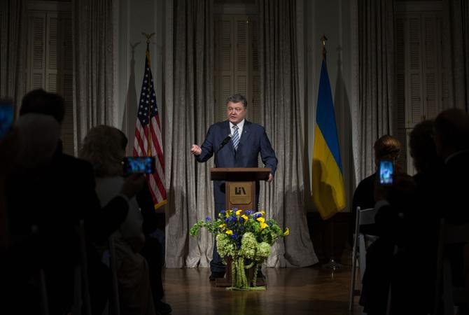 Порошенко вСША подчеркнул необходимость представления Украине смертельного оружия