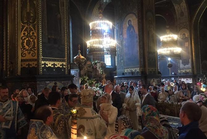 Тимошенко накрестинах внучки воВладимирском соборе