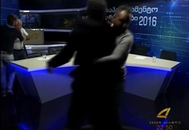 Грузинские политики подрались впрямом эфире