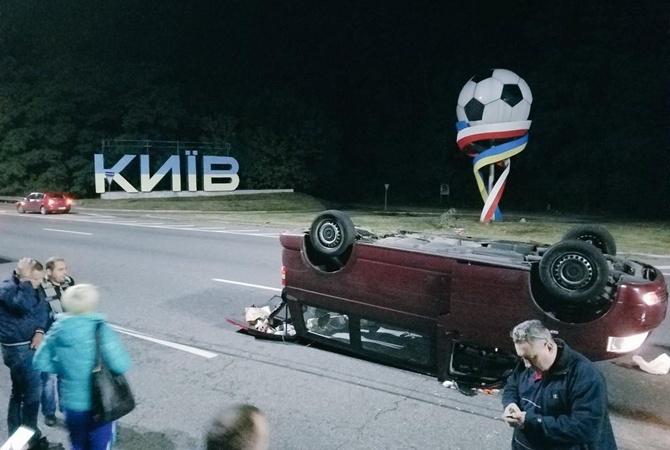 Нетрезвый шофёр протаранил автобус: ДТП под Киевом