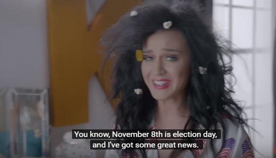 Голая Кэти Пэрри призывала за Клинтон Пэрри снялась в агитационном