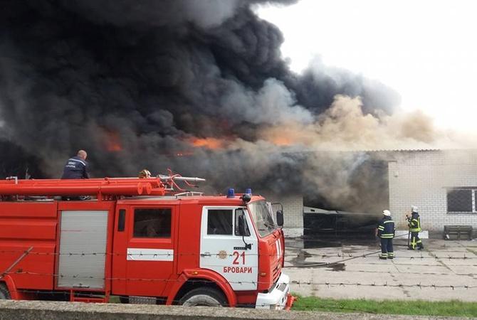 Под Киевом наскладе произошел мощнейший пожар