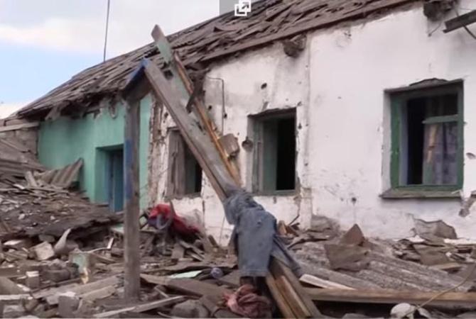 ВМарьинке в итоге обстрела повреждены 5 домов
