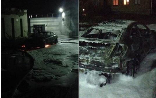 ВКиеве сожгли автомобиль активистки, супруги главы города Глухова Терещенко