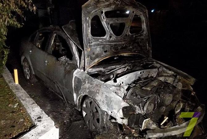 ВОдессе сожгли авто начальника районной налоговой