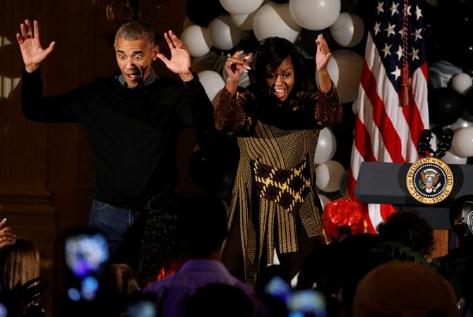 Барак и Мишель Обама станцевали под Майкла Джексона