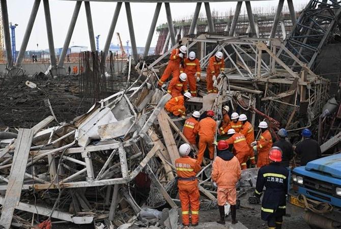 ВКитайской народной республике при обрушении строящейся станции повыробатыванию электричества погибли 22 человека
