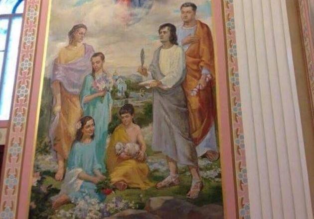 Обнародовано фото фрески из«домового храма» Порошенко
