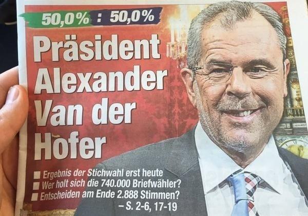 Ван дер Беллен одержал победу президентские выборы вгосударстве — МВД Австрии