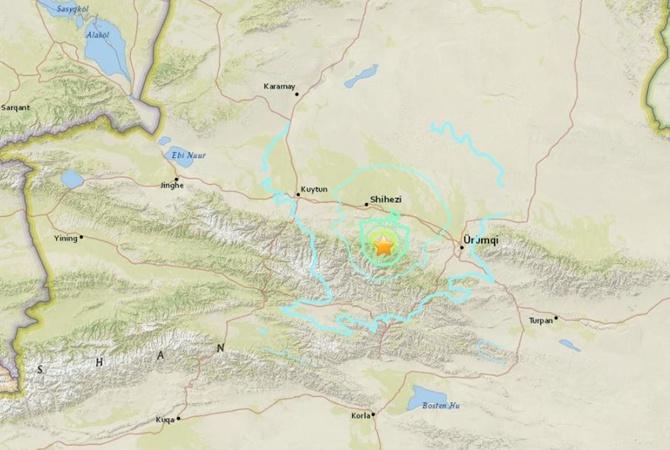 Насеверо-западе Китая случилось землетрясение магнитудой 6,2