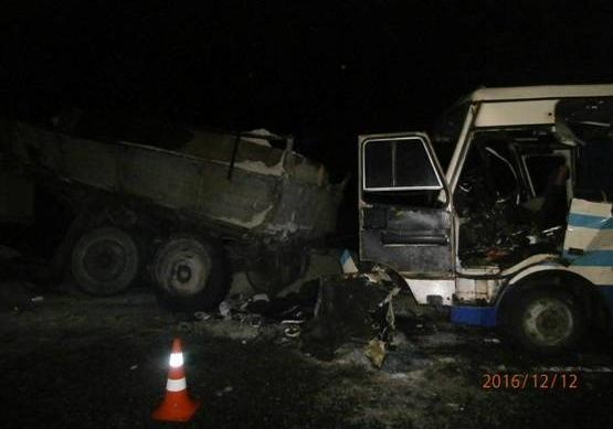 Столкнулись маршрутный автобус и фургон — Смертельное ДТП