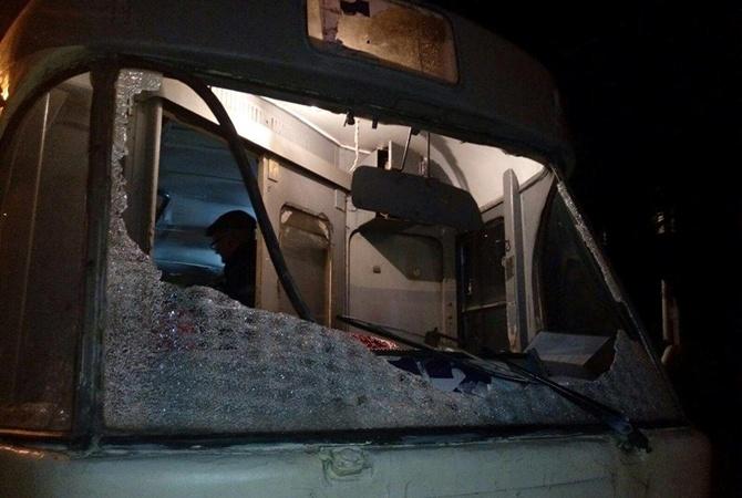 ВДнепре утрамвая выбито ветровое стекло, пострадал шофёр