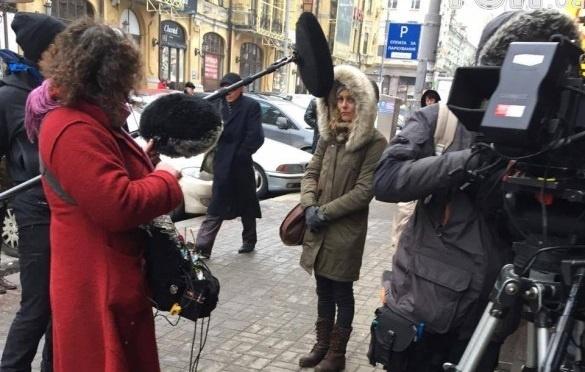 Вцентре Киеве увидели известную французскую актрису Ванессу Паради