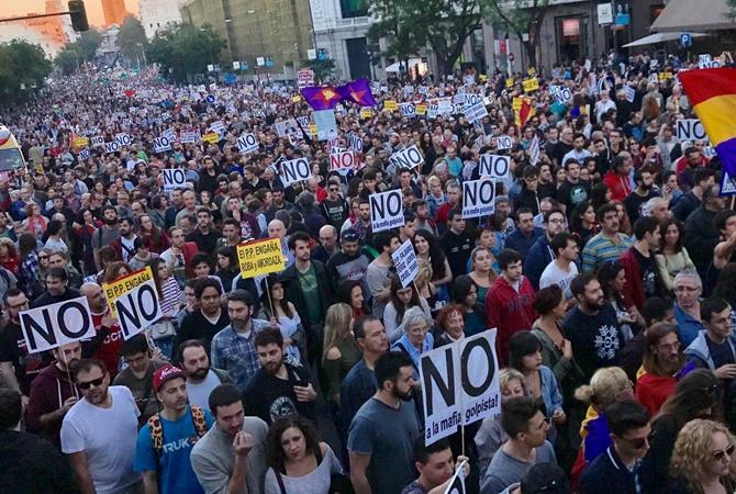 Десятки тыс. испанцев вышли намитинг против политики экономии страны