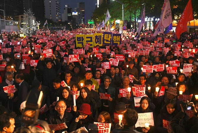Граждане Южной Кореи снова митинговали против президента