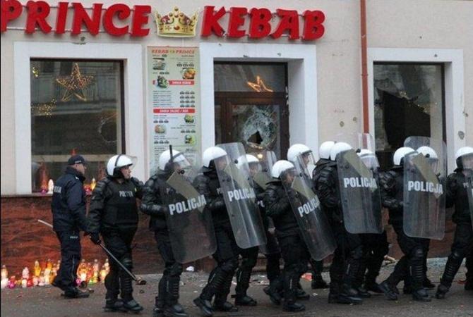 Вгороде насеверо-востоке Польши начались беспорядки из-за убийства