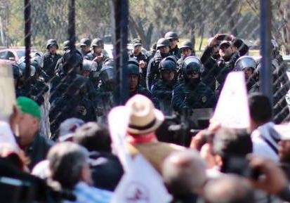 Полицейские вМексике пострадали вакции протеста