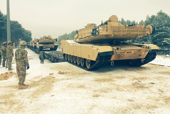 ВПольшу прибыла первая партия танков изсоедененных штатов