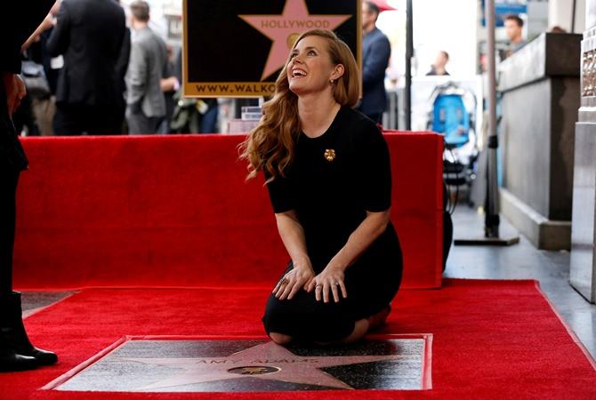 Голливудская артистка Эми Адамс пополнила ряды звезд на«Аллее Славы»