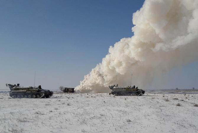 Украина провела учения войск ПВО награнице сКрымом