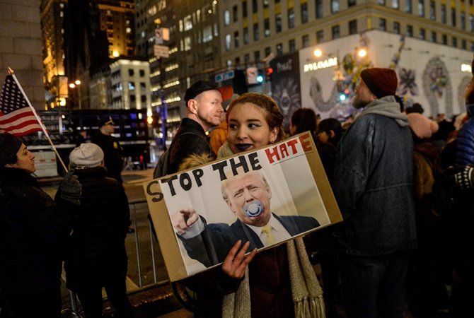 Впроцессе инаугурации Трампа вВашингтоне произошли массовые аресты