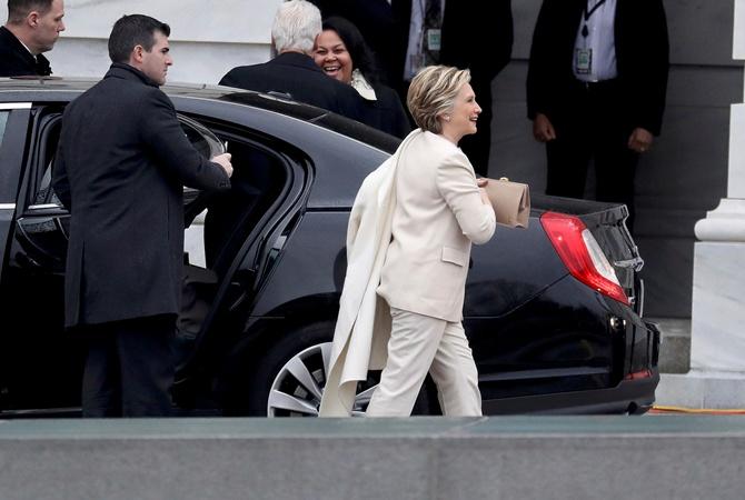 Хиллари Клинтон прибыла нацеремонию инаугурации президента США
