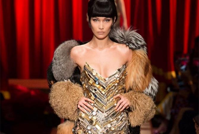 «Голое» одеяние Беллы Хадид произвело фурор навечеринке Bvlgari