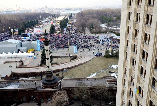Вмилиции столицы избили аспиранта МГУ зафлаг Украины