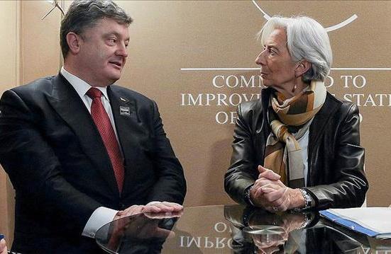 Порошенко поблагодарил Лагард затранш МВФ впроцессе телефонного разговора