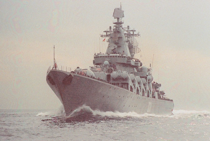 Ракетный крейсер «Варяг» икорабли ТОФ прибыли вюжнокорейский Пусан
