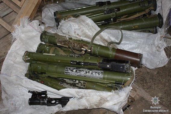 Гражданин Запорожья сдал полицейским 15 гранатометов