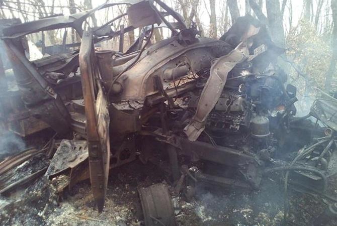 Около Павлополя подорвался военный автомобиль, умер военнослужащий,— штаб