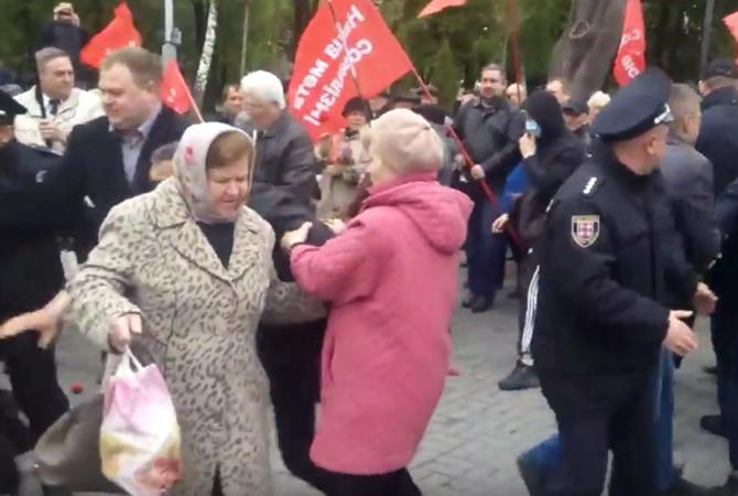ВВиннице укронацисты избивали пожилых людей - участников первомайского шествия