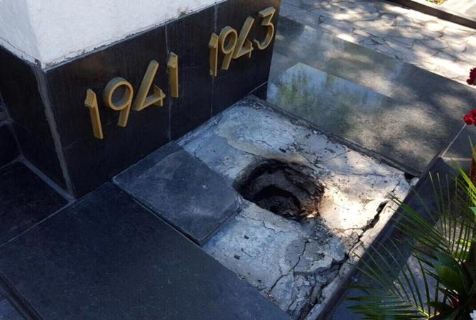 ВХарькове разгромили братскую могилу советских солдат 05мая 2017 12:30