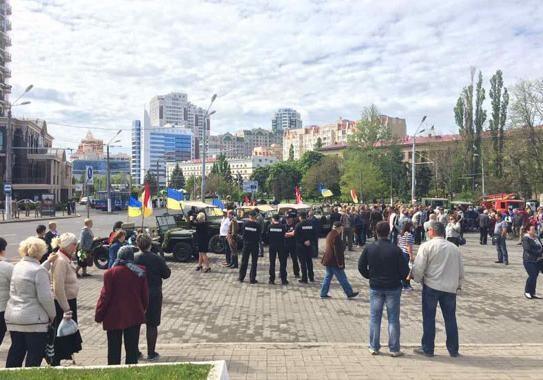 МВД: вгосударстве Украина впроцессе акций коДню Победы задержали 45 человек