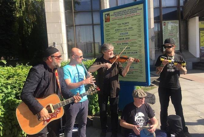 Борис Гребенщиков спел для граждан Житомира