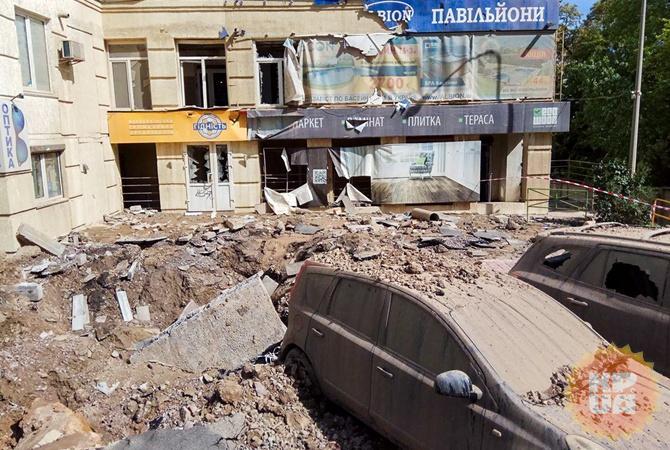 ВКиеве забил семиметровый фонтан кипятка